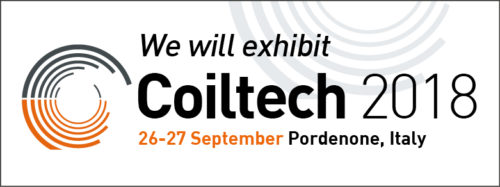 Coiltech fair in Pordenone (Italy) from 26 to 27 september 2018