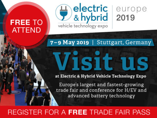 Salon 'Electric & Hybrid Vehicle Technology Europe' à Stuttgart du 7 au 9 mai 2019